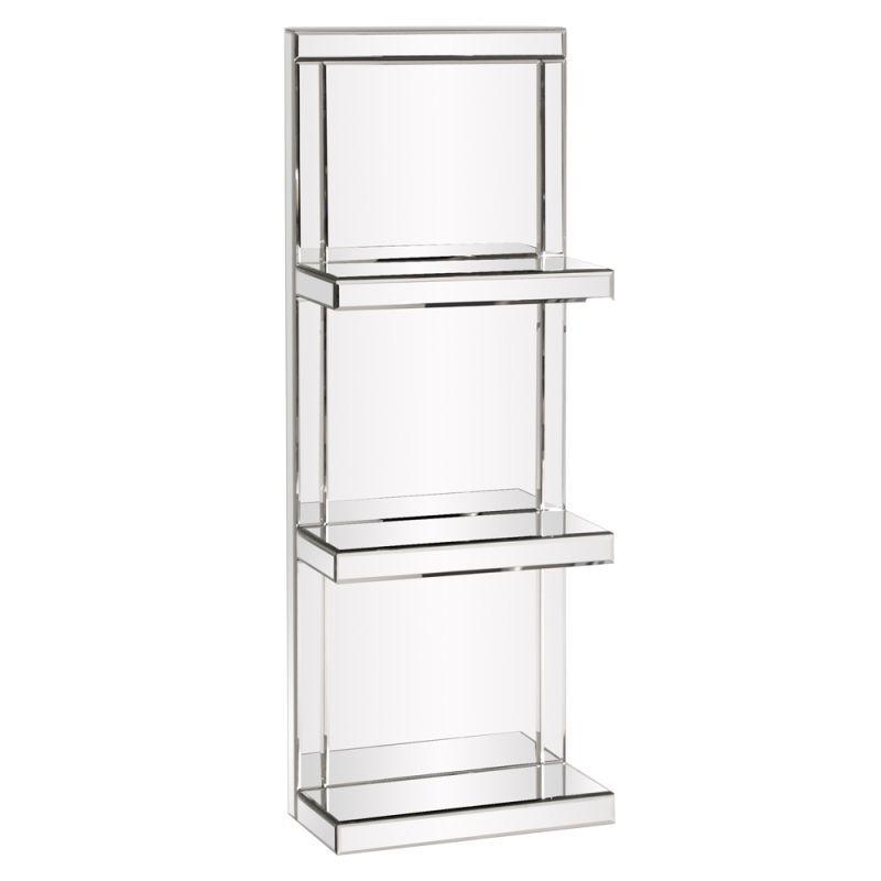 Howard Elliott Mirrored 3 Shelf Unit 42 5 Quot Tall Mirrored