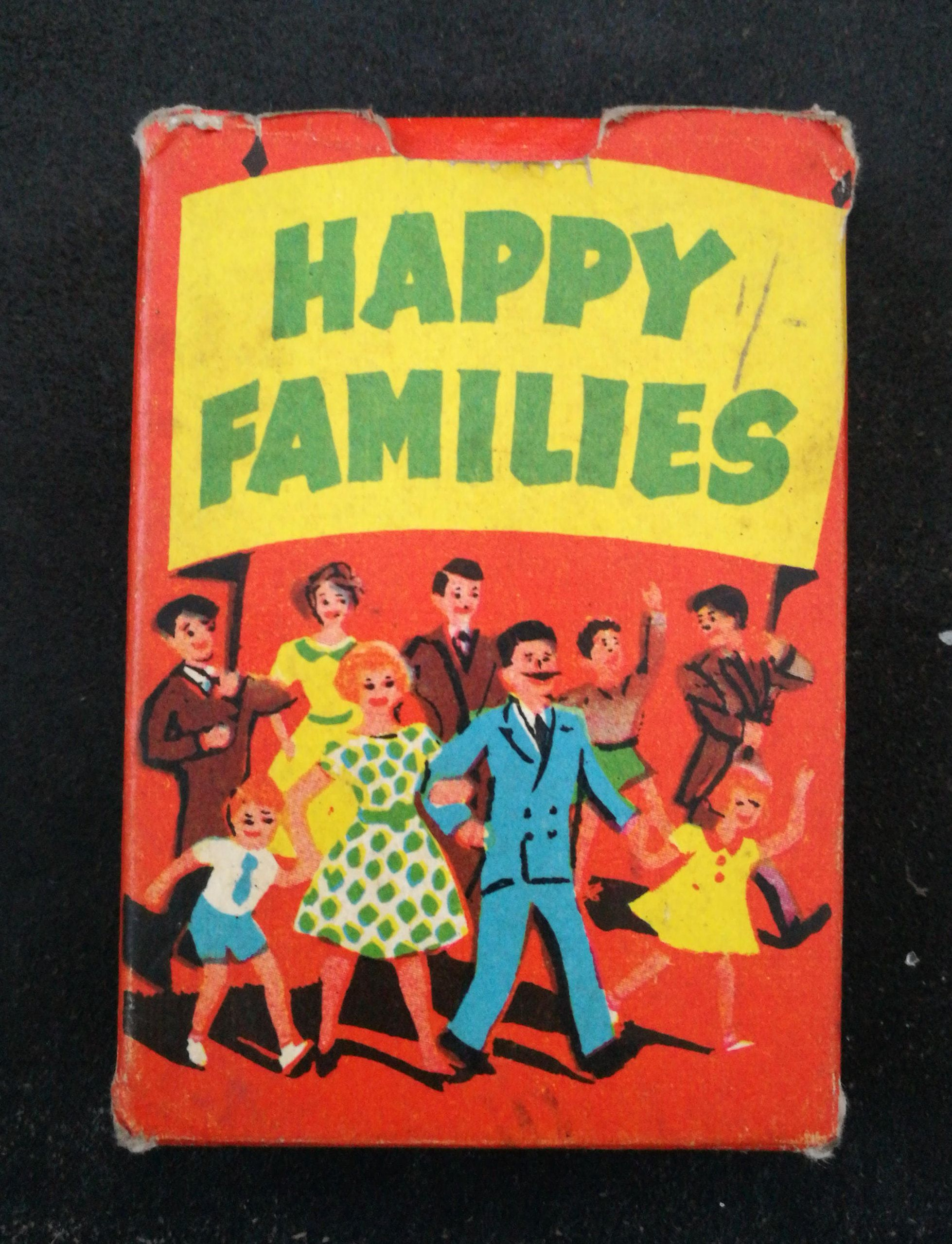 Vintage Happy Families Card Game Tower Press No 5484 Happy