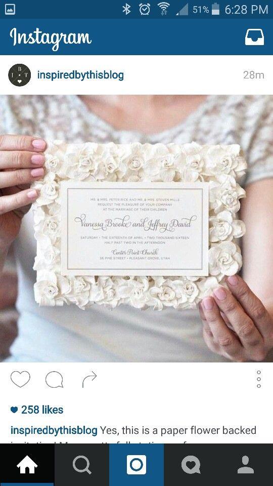 Paper flower invite