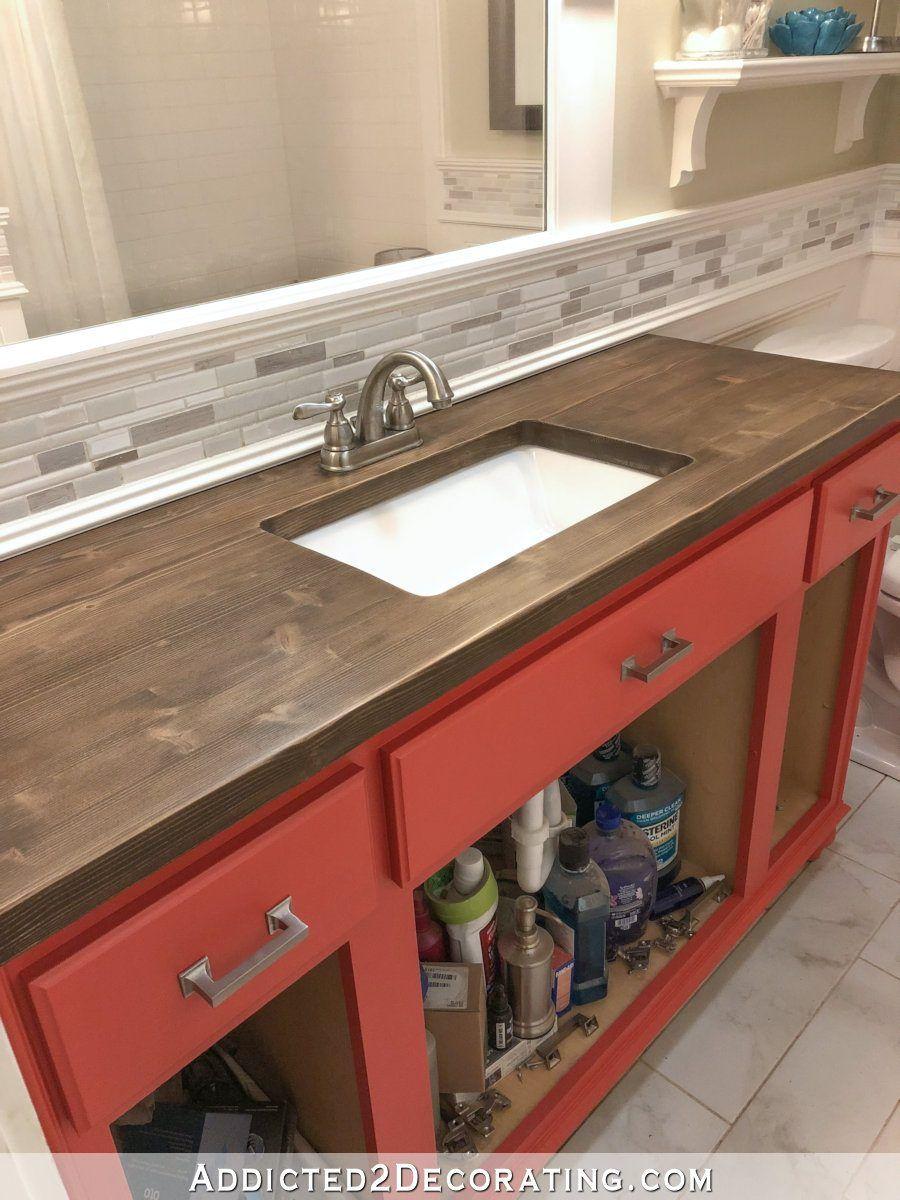 How To Refinish Pine Wood Countertops Wood Countertops Bathroom Countertops Countertops