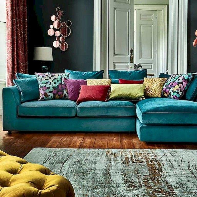 75 Good Bohemian Living Room Decor Ideas Living Room Turquoise Corner Sofa Living Room Bohemian Living Room Decor #teal #sofa #living #room #ideas