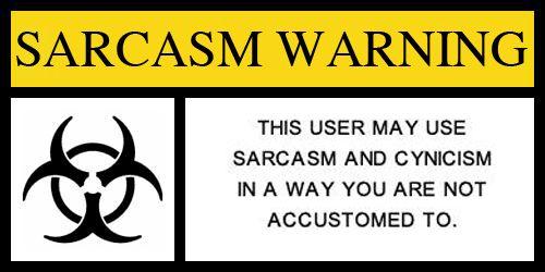 Výsledek obrázku pro WARNING CYNICISM