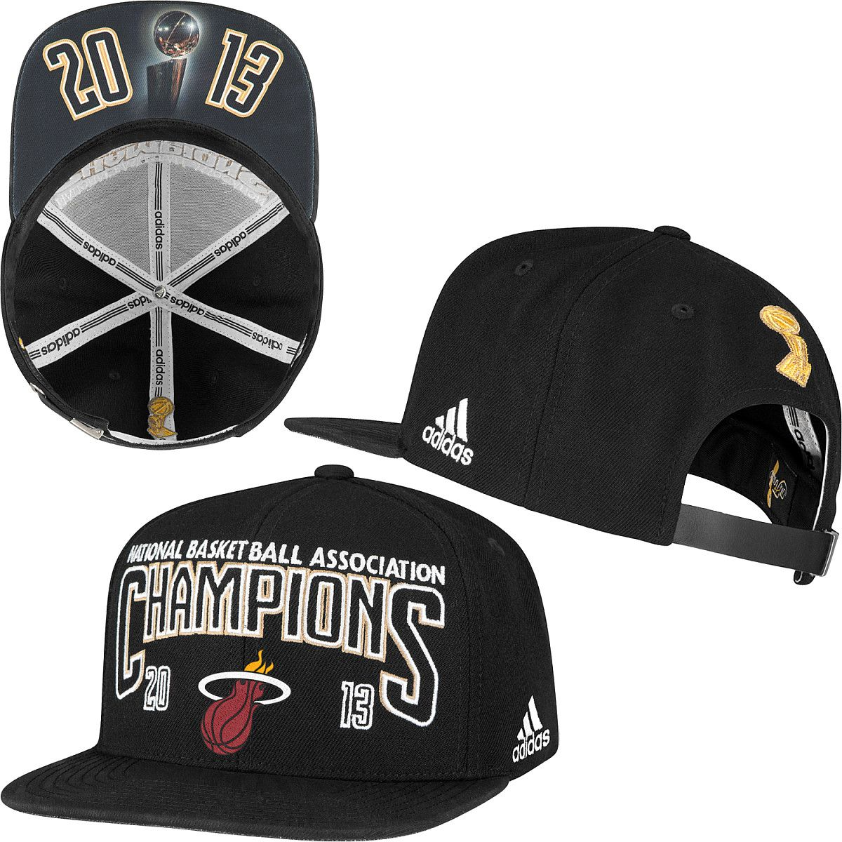 04ebca192c5a7 adidas Miami Heat 2013 NBA Finals Champions Locker Room Hat - NBAStore.com