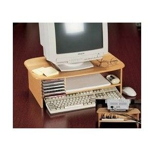 Deluxe Monitor Stand Computer Monitor Stand Wooden Monitor