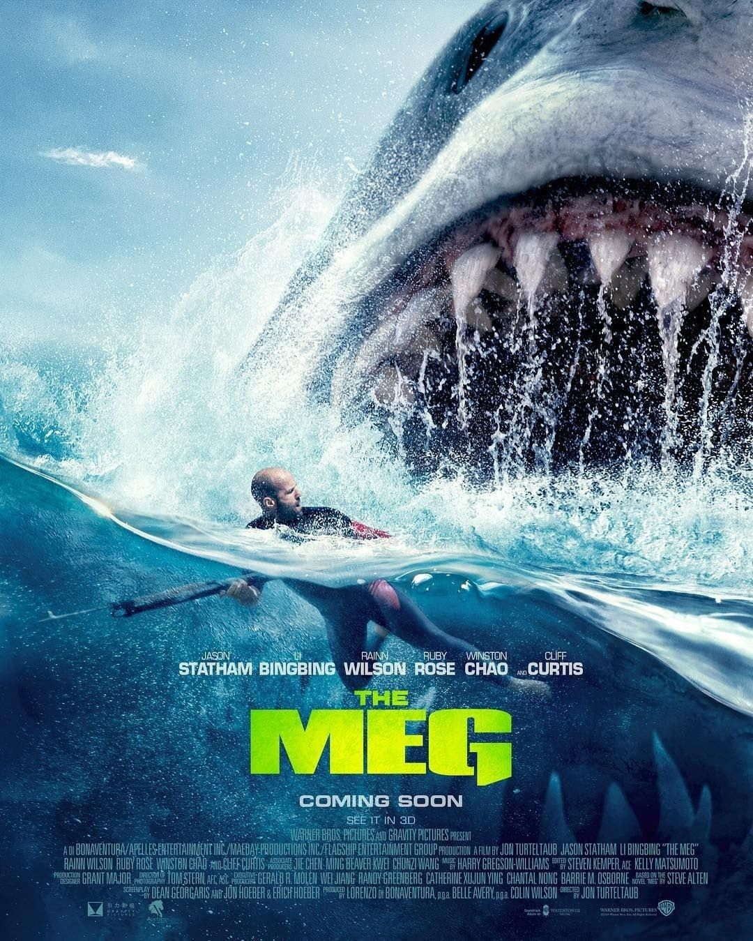Film Review: The Meg starring Jason Statham | Shark film, Meg movie,  Megalodon