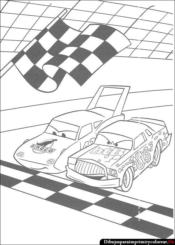 Dibujos De Cars Para Imprimir Y Colorear Cars Coloring Pages Race Car Coloring Pages Disney Coloring Pages