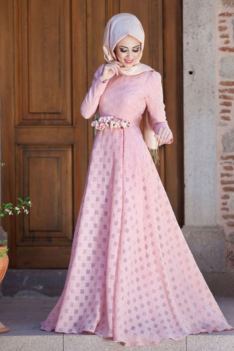 Minel Aşk - Afife Elbise Pudra   Muslimah Fashion & Hijab Style ...