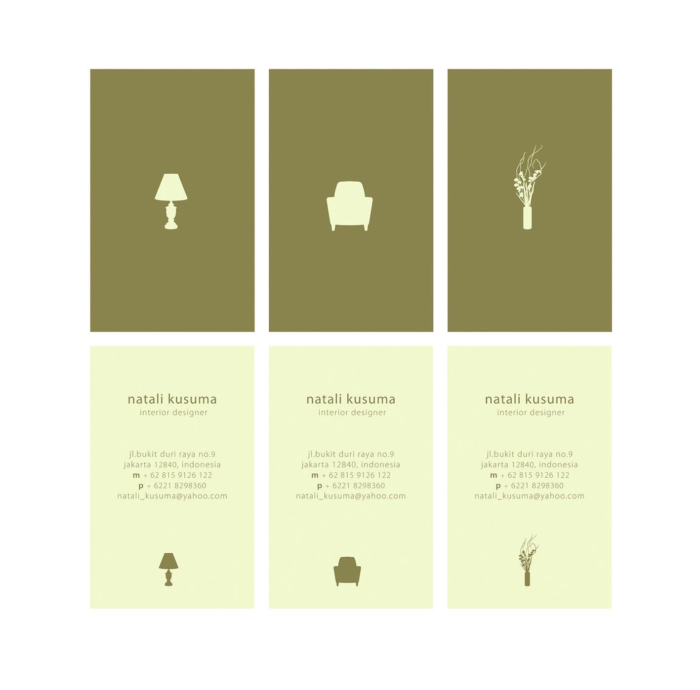 Name Card Natali Kusuma Interior Designer