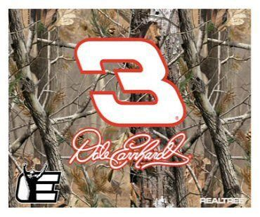"""DALE EARNHARDT #3 Camouflage Fleece Blanket 40"""" x 58"""" by Winner's Circle. $24.99. Combine your love for NASCAR and the great outdoors with this officially licensed Dale Earnhardt throw. Featuring Dale's car number, signature and Legacy logo set on a classic Realtree camo pattern, this polyester fleece blanket measures 40"""" x 58"""" and is machine washable."""
