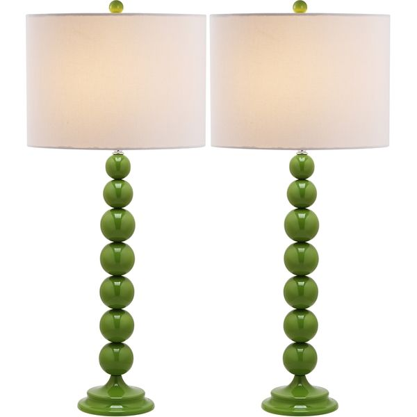safavieh jenna stacked ball green table lamps set of overstock shopping big discounts on safavieh lamp sets