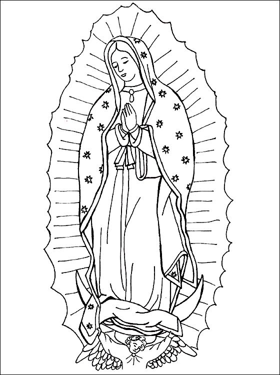 Our Lady Of Guadalupe Coloring Virgencita De Guadalupe