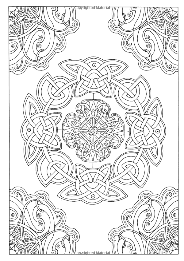 Art Therapy Celtic 100 Designs Colouring In And Relaxation Michel Solliec 9781910254073 Books Celtic Coloring Coloring Book Art Mandala Coloring Pages