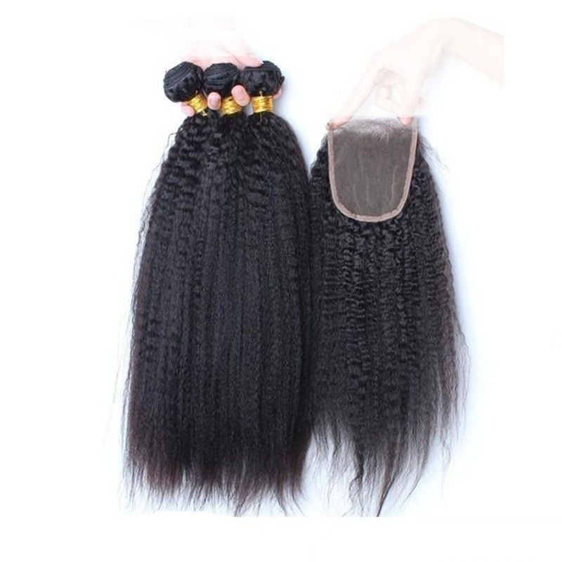 40 Bundles Of Brazilian Virgin Human Hair Weave With Kinky Straight Adorable Hair Weave Sewing Machine