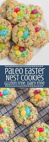 Photo of Paleo Easter Nest Cookies are a fun, festive treat! Gluten free, grain free and …