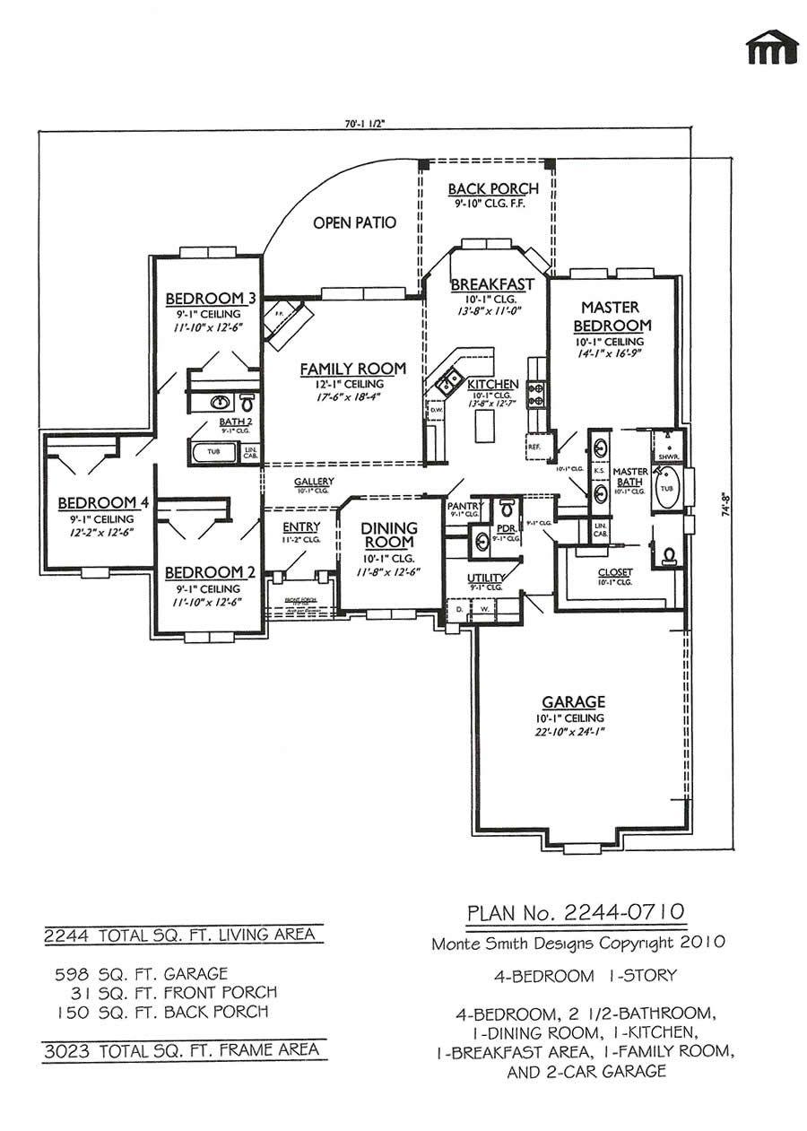 4 Bedroom Bungalow Design Pleasing 1 Story 4 Bedroom 25 Bathroom 1 Dining Room 1 Kitchen 1 Inspiration