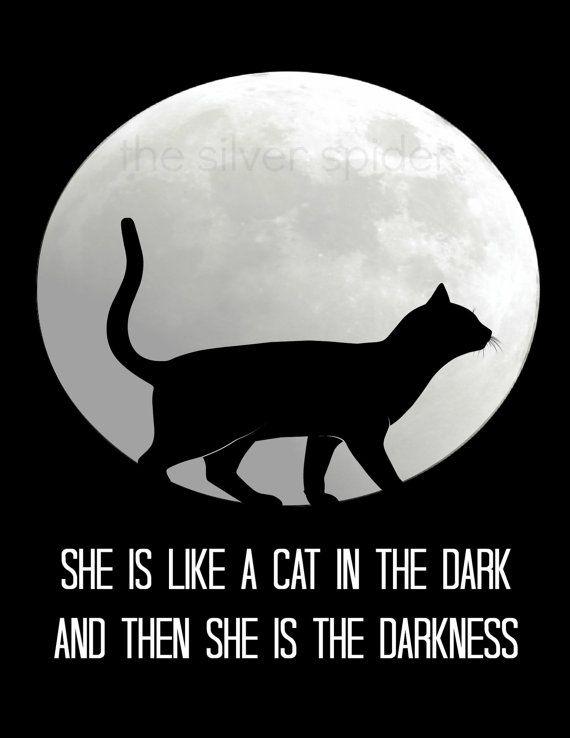 spring sale // She is like a Cat in the Dark - Rhiannon Lyrics Typography Art Print 8x10 - Fleetwood Mac
