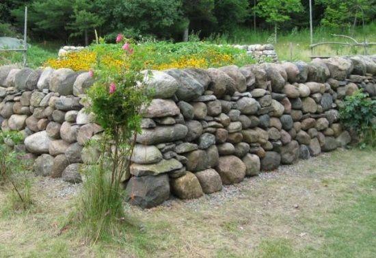 trockenmauer bauen-stein mauer-ideen | haus und garten | pinterest, Gartenarbeit ideen