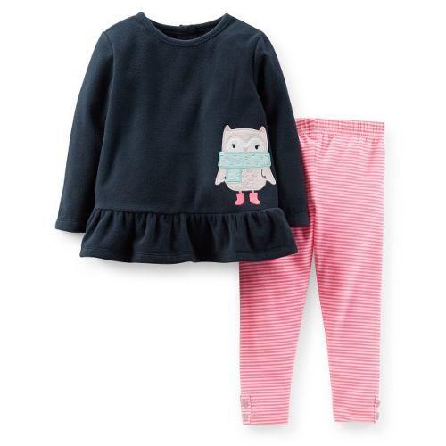 Set Carters Polar Pantalon Nena 12 24 Meses Envio Gratis 375 00 Carters Para Ninas Bebes Moda Para Ninas Vestidos Para Ninas