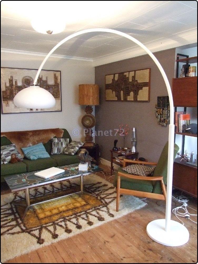 Retro Vtg Original 60s 70s E Age Huge Italian Arc Arco Floor Lamp Light