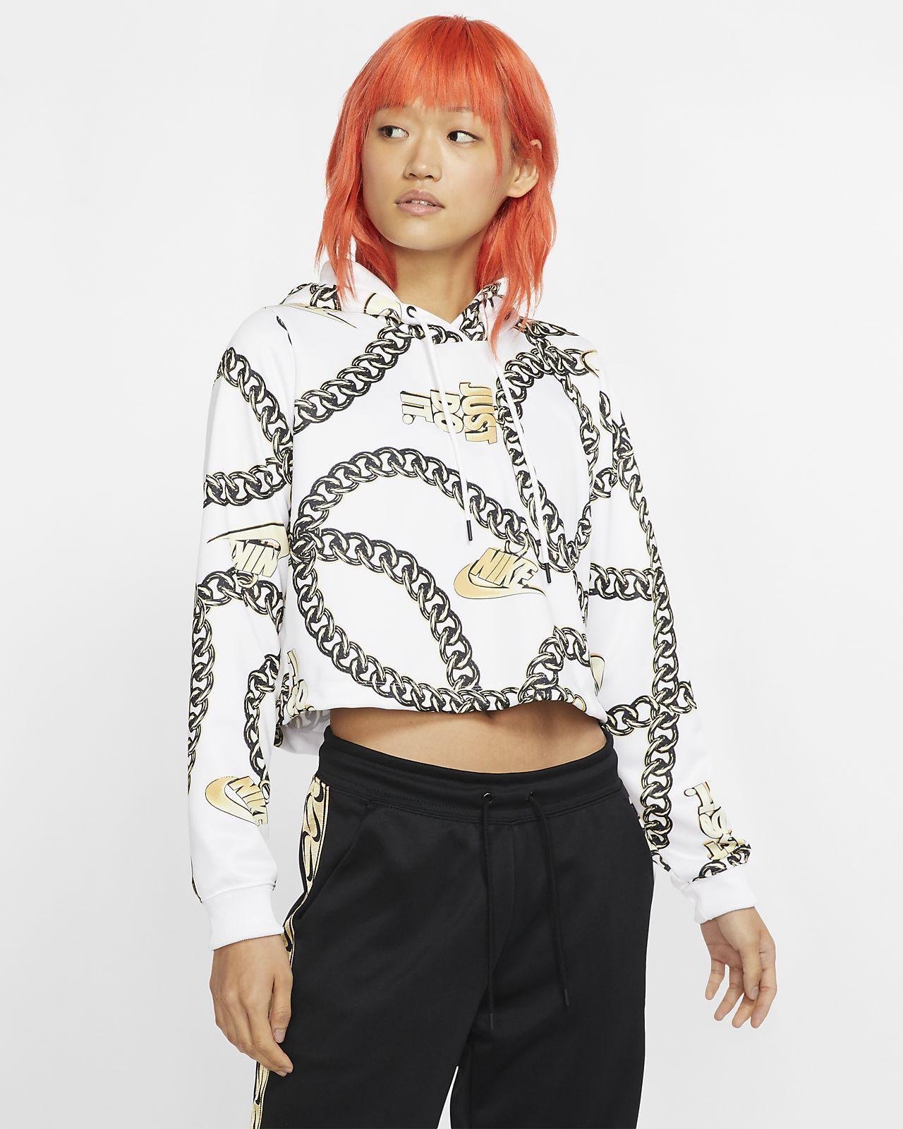 Nike Sportswear Icon Clash Women's Crop Top Hoodie. Nike