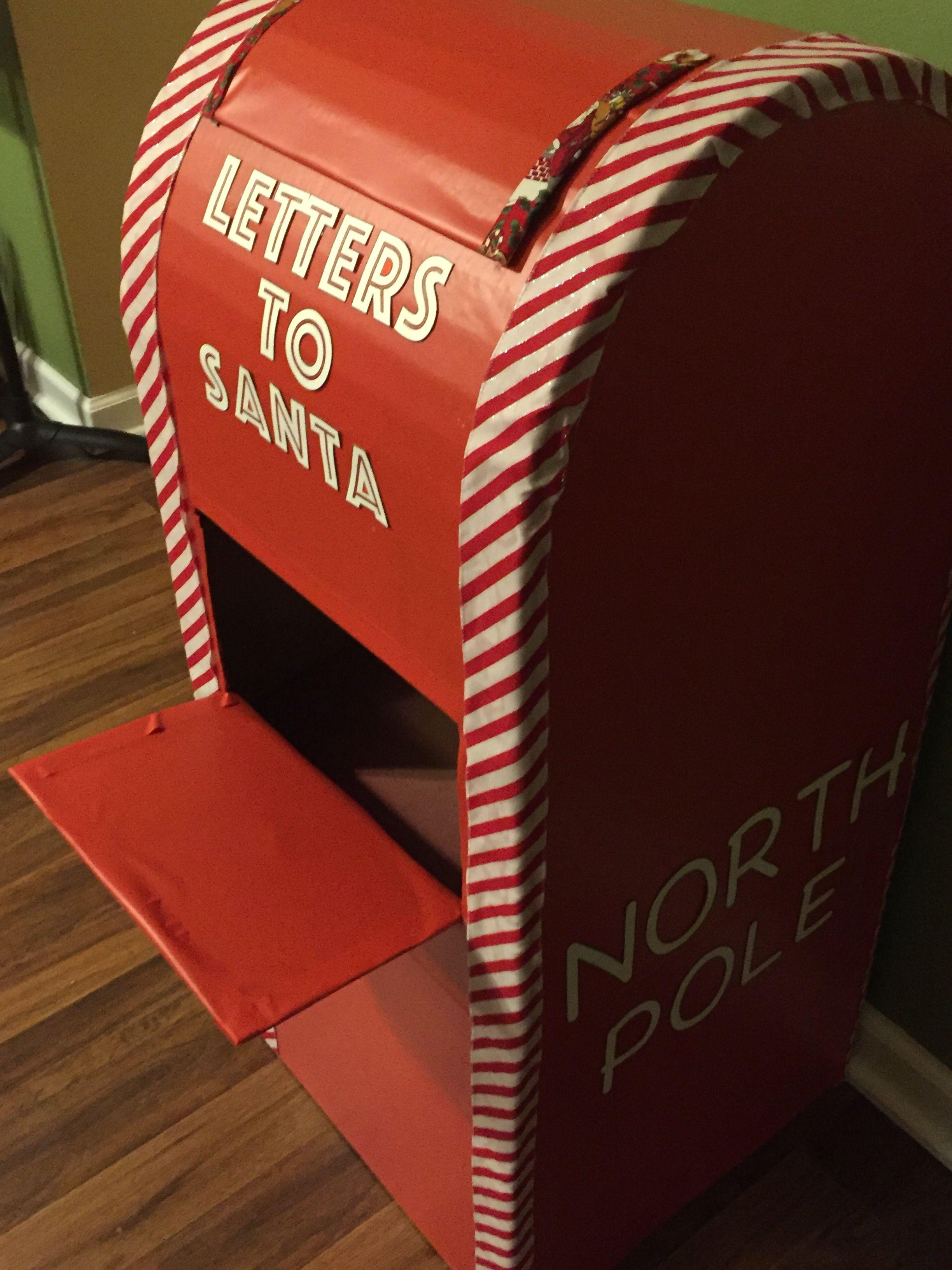 Cardboard Letters To Santa Mailbox Diy Santa Christmas Lettering Christmas Decor Diy