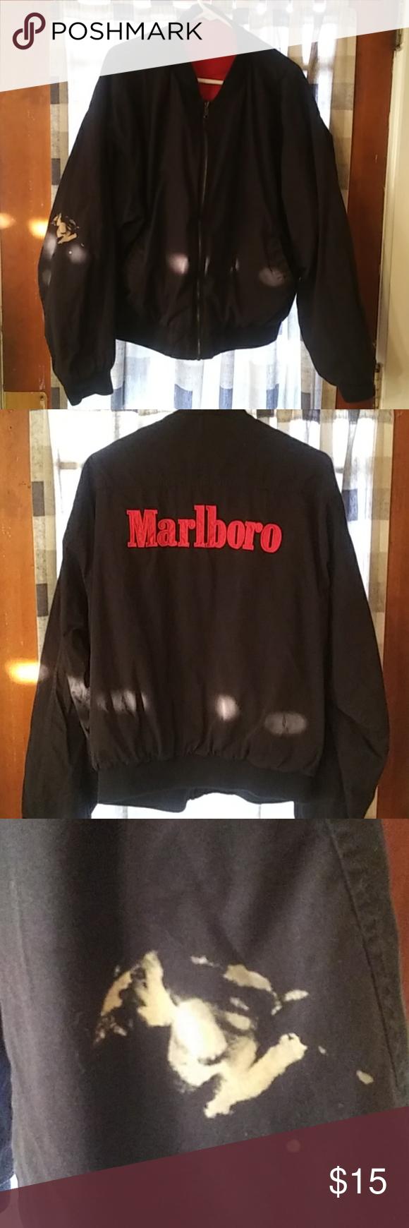 Vintage Reversible Marlboro Jacket In 2020 Marlboro Jacket Jackets Perfect Vintage