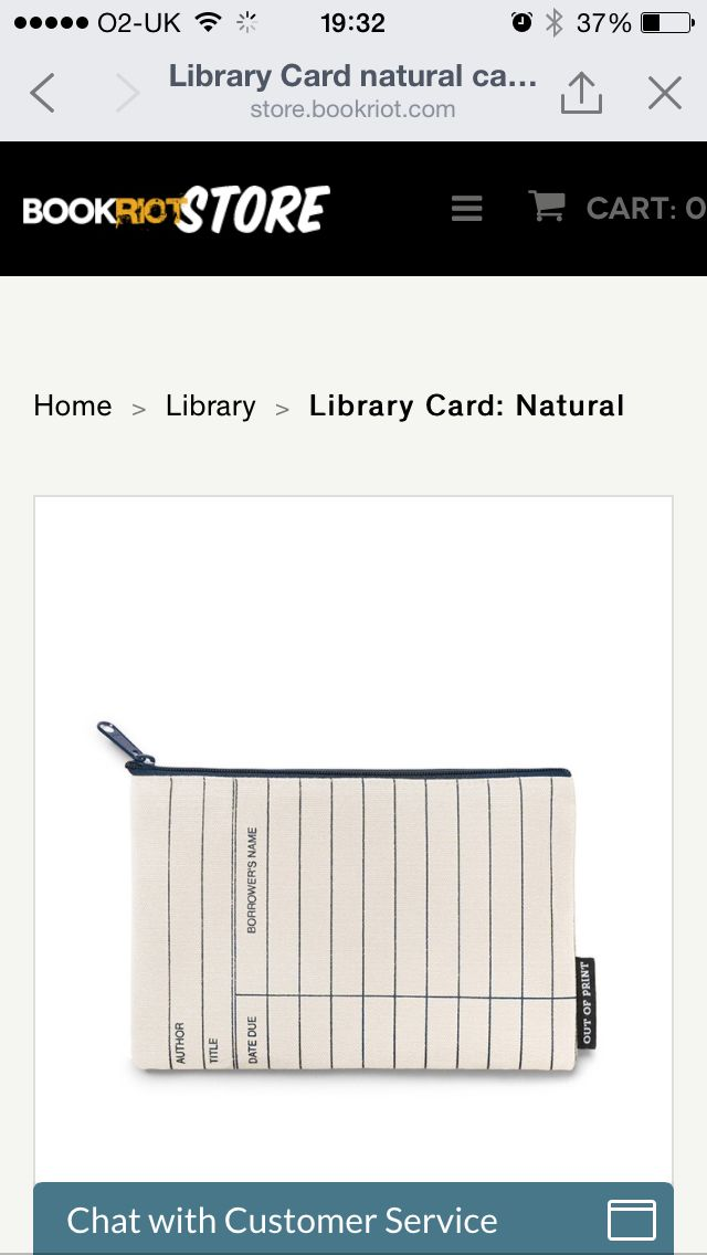 Library card case