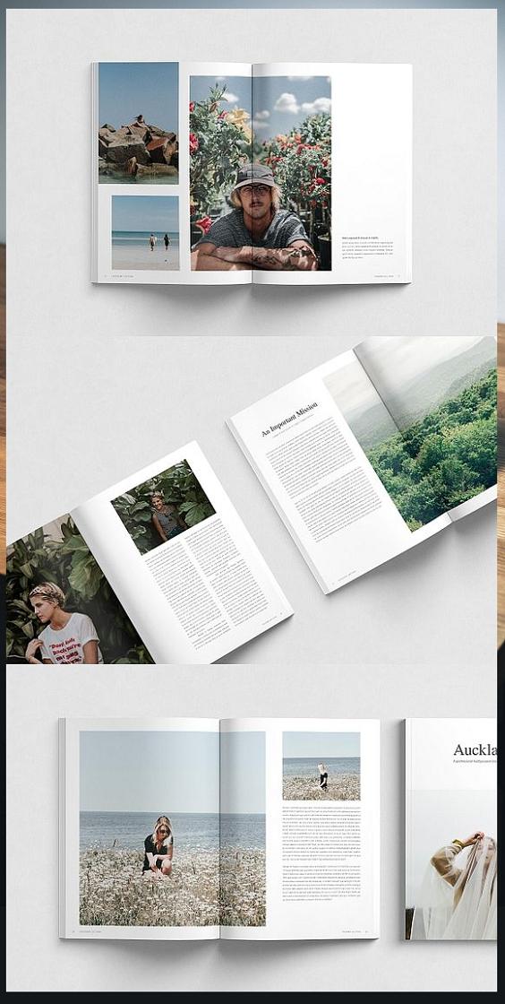 Auckland / InDesign Magazine Template   #magazine #brochure #template #brochuretemplate #brochuredesign #layout #layoutdesign #editorial #indesign #templates #magazinelayouts