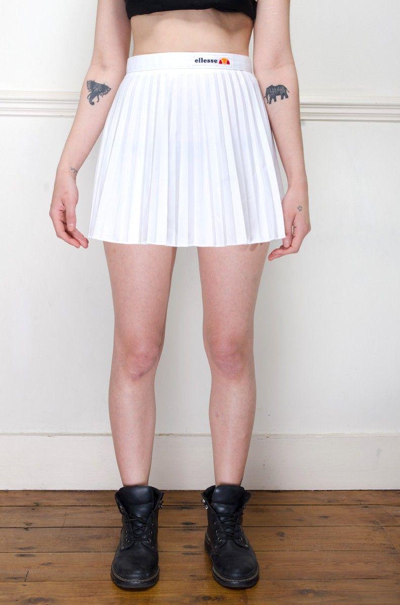 Vintage White Ellesse Pleated Tennis Skirt Retro Vintage Clothes Uk Pleated Tennis Skirt Tennis Skirt Outfit Retro Sportswear