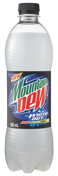 White Out Mountain Dew Pet Bottle Best Soda