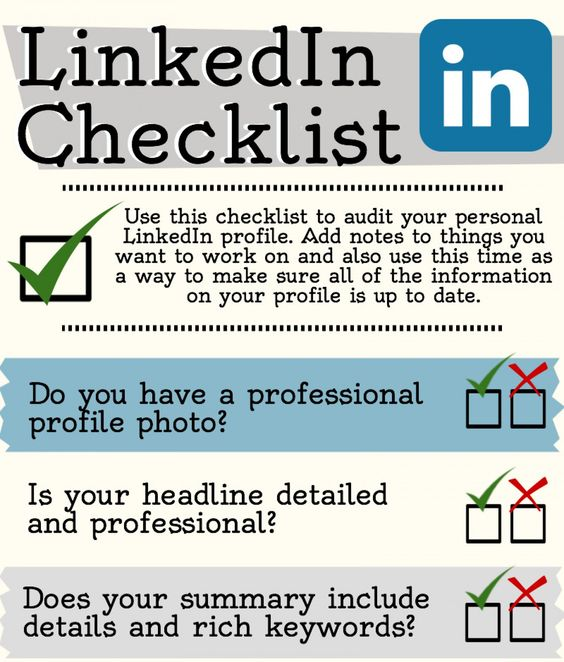 Social Media Marketing Resume Linkedin Checklist  Cheap Linkedin Connections  My Marketing