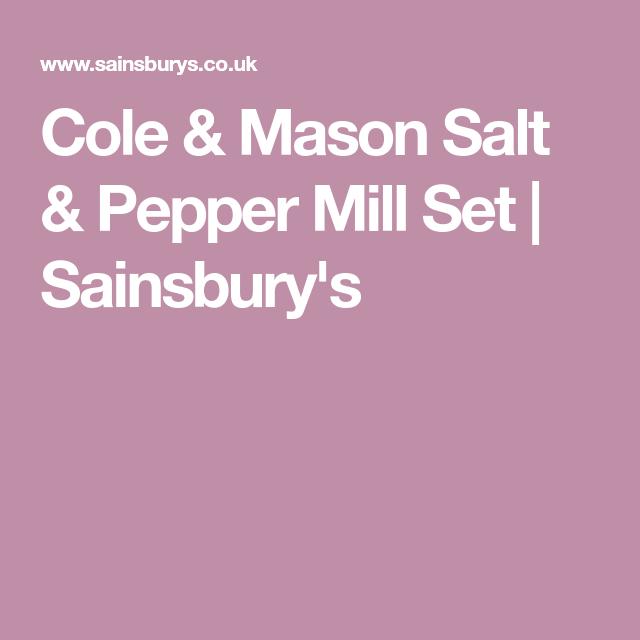 Cole & Mason Salt & Pepper Mill Set | Sainsbury\'s | Dining Room ...