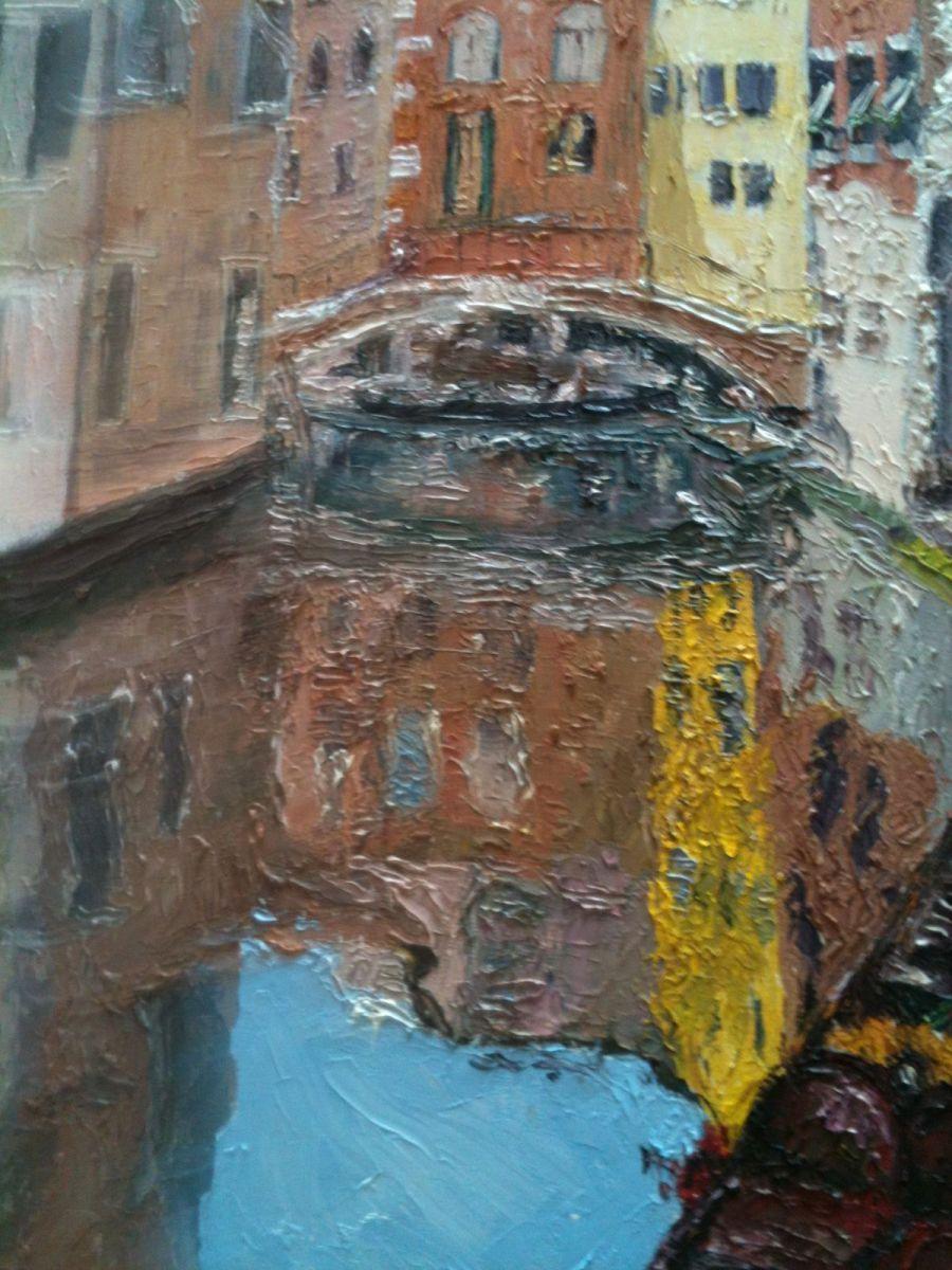 Pintura al óleo de Venecia.
