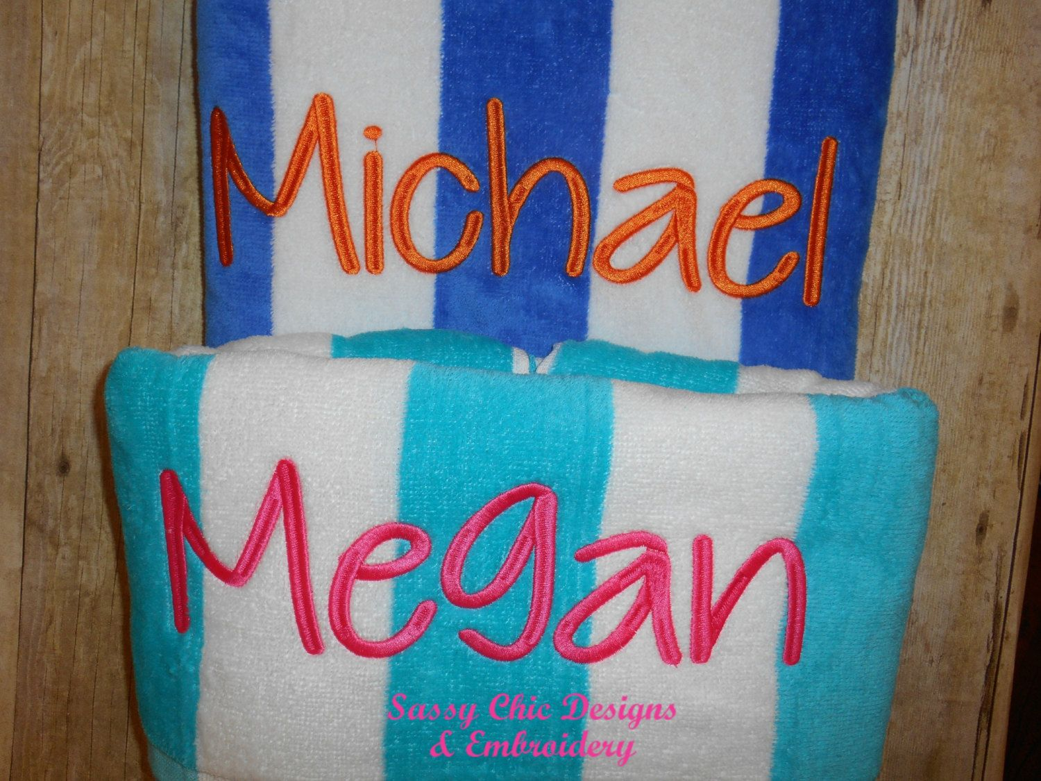Beach Towel Pool Personalized Bridal Party Gifts Honeymoon