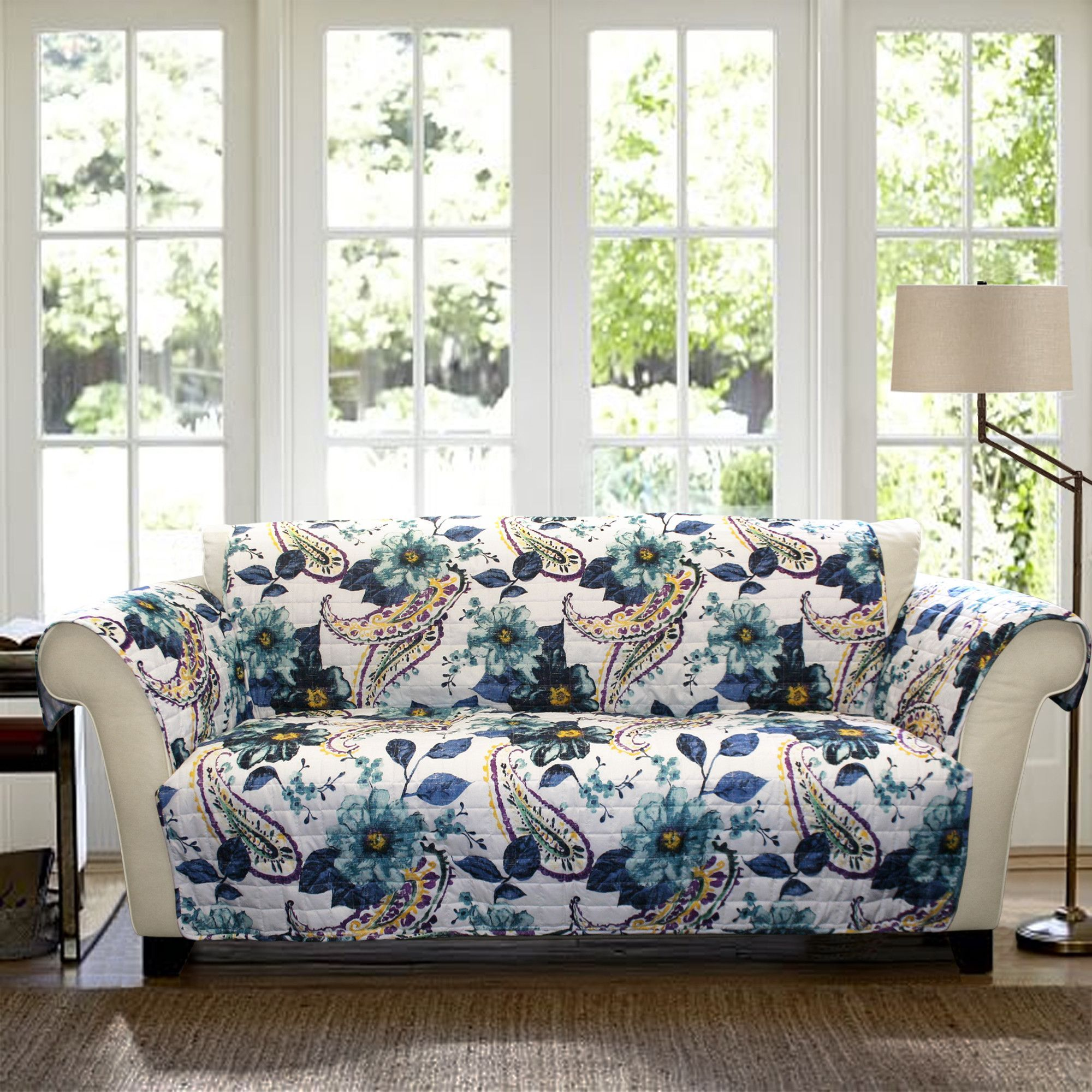 Floral Paisley Sofa Protector Diy Project Pinterest Sofa  ~ Light Blue Sofa Slipcover