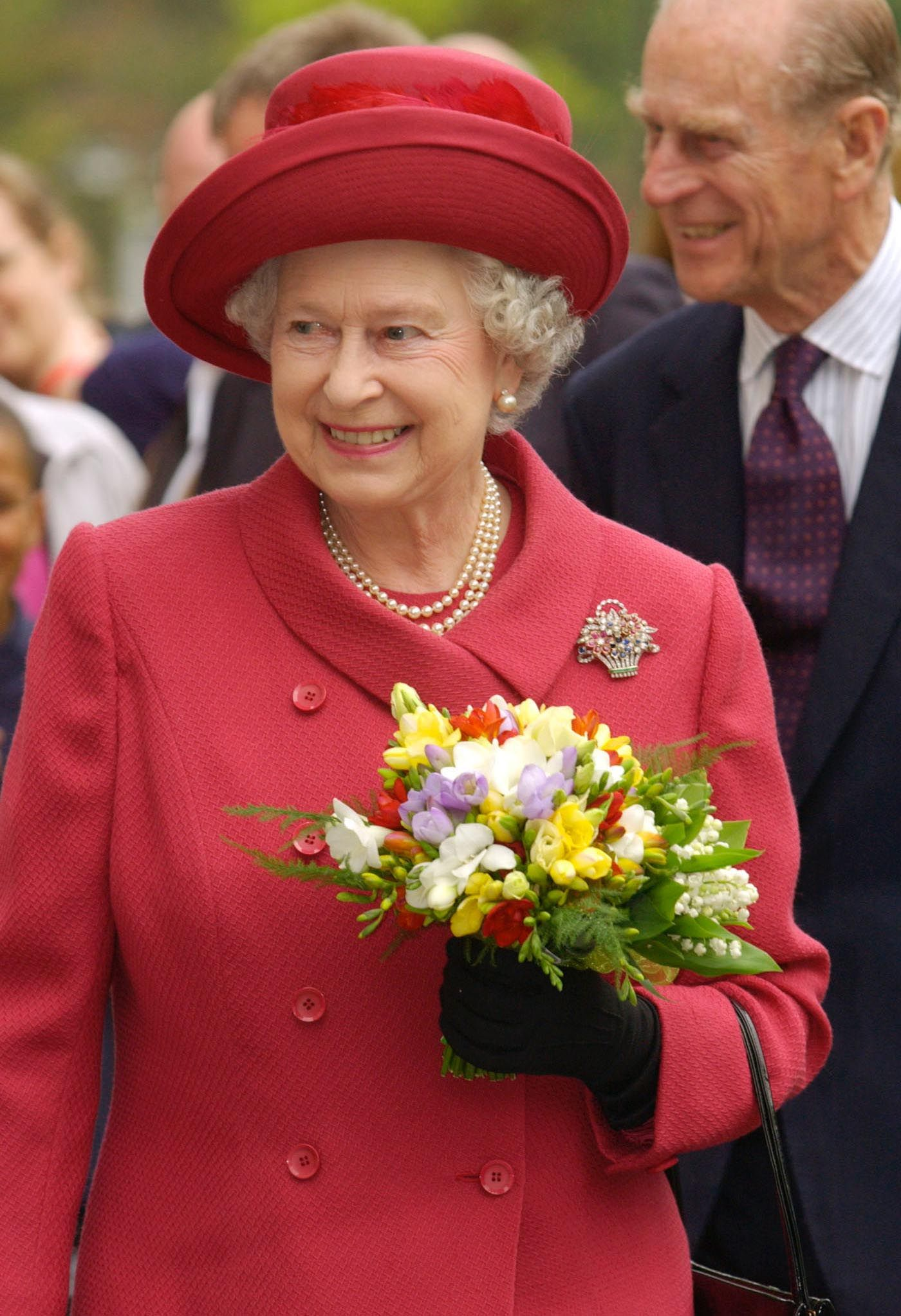The Queen Mother (then the Duchess of York) with her