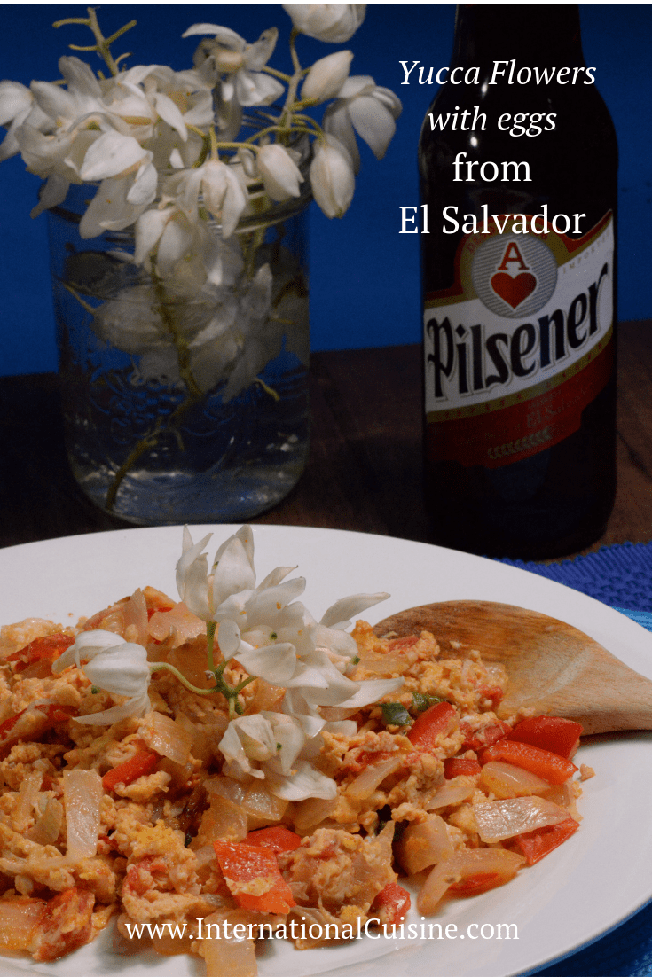 El Salvador Flor de Izote (Yucca-Blume mit Eiern) #elsalvadorfood