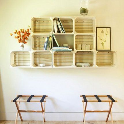 Maybe do something like this in dining room to free up floor space ...