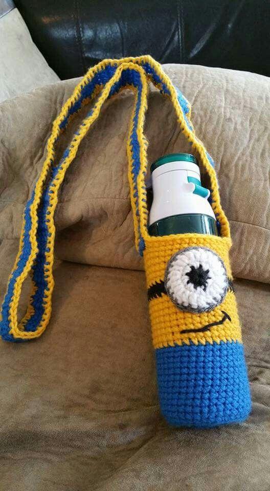 Water bottle holder | ideas por realizar | Pinterest | Ganchillo ...