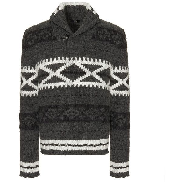 Fay - Fair Isle Sweater ($625) ❤ liked on Polyvore featuring ...