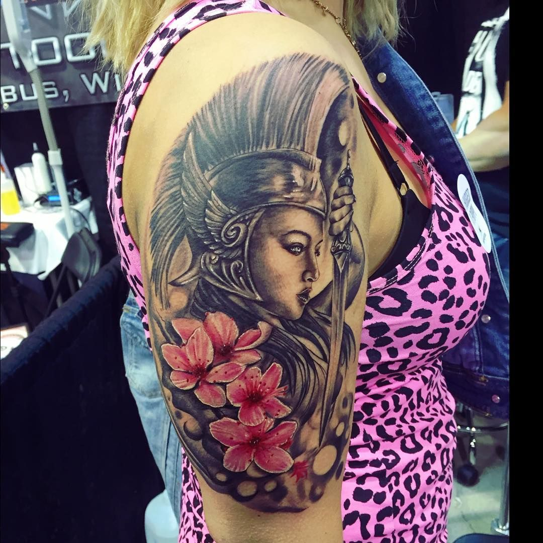 Interesting rendition of the Greek goddess Athena | Tattoo ...