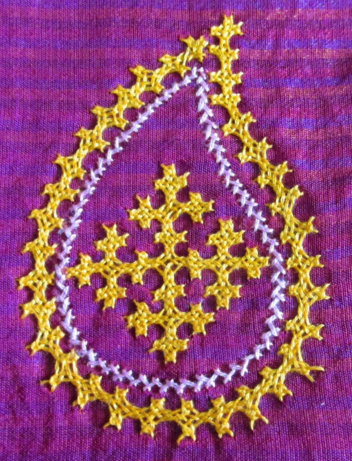 My craft works: Kutch Work Saree - Ta da   aiguille   Pinterest ...