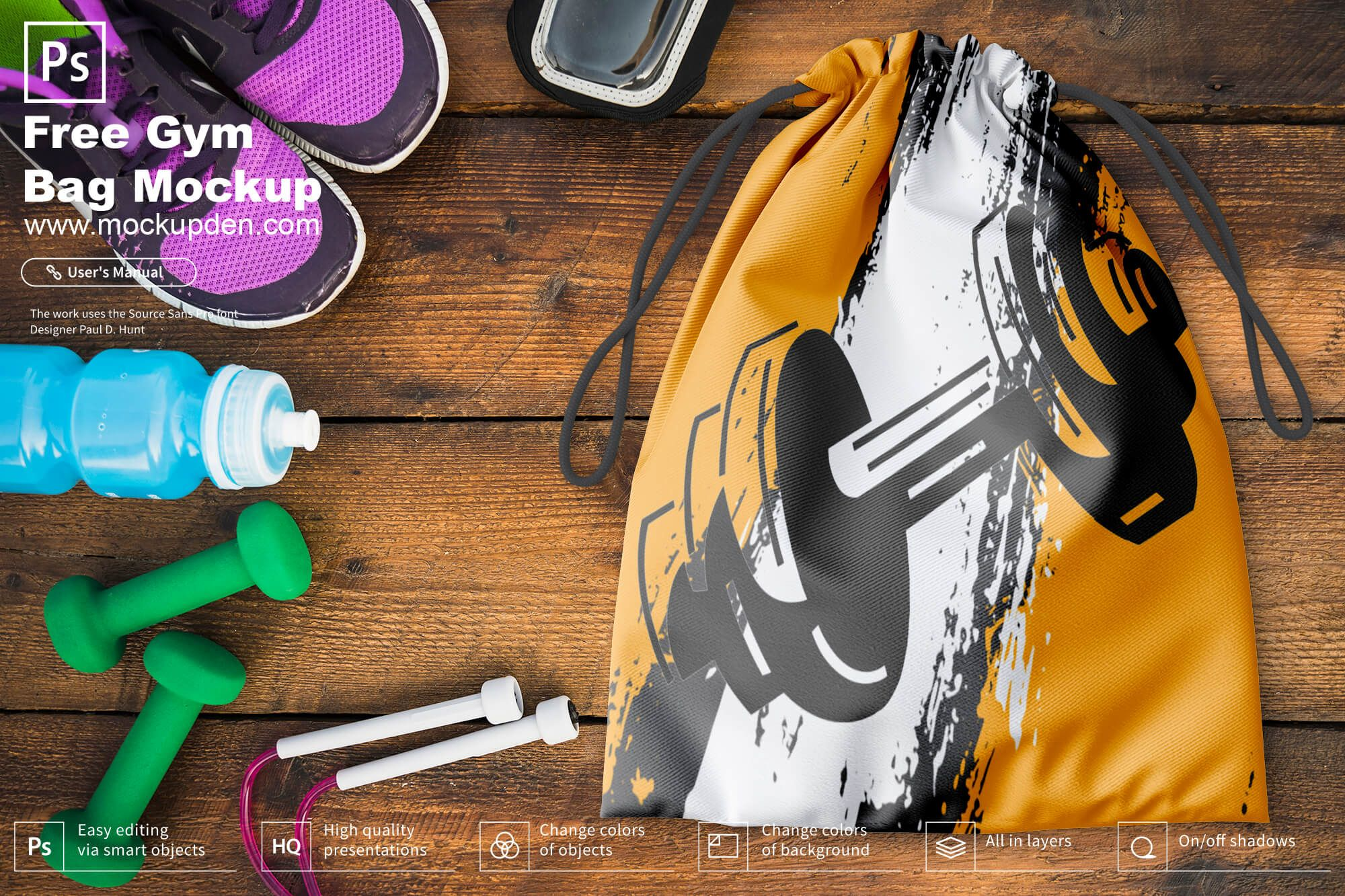 Download Free Gym Bag Mockup Psd Template In 2020 Bag Mockup Mockup Psd Templates Free Design