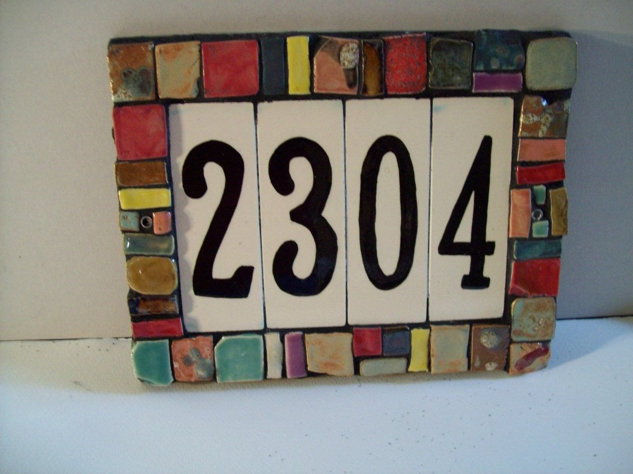 Handmade Ceramic Porcelain House Number Tiles Backspashes Ceramic House Numbers Tile House Numbers House Numbers