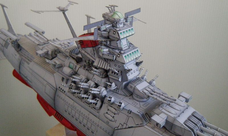 Space Battleship Yamato 2199, 1/500 scale paper craft model  宇宙