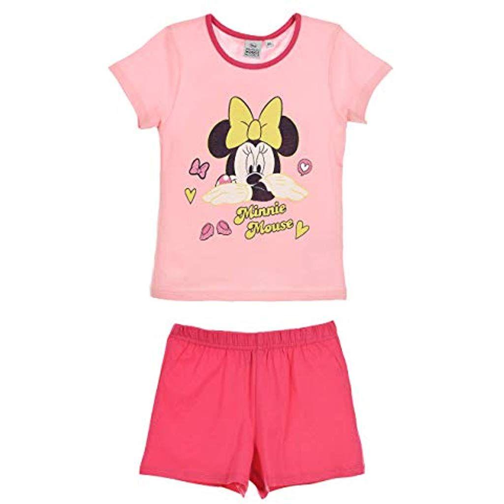 Maniche Lunghe Rosa Disney Bebe Ragazze Minnie Mouse Abito