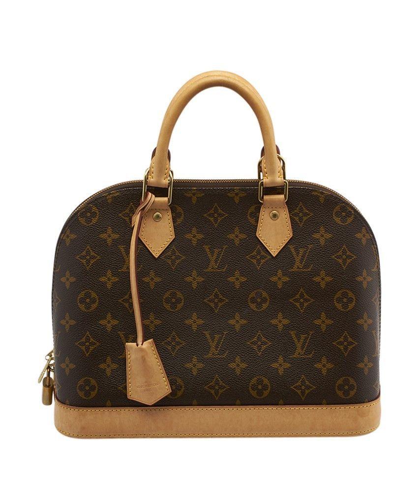 145959f7c6a1 Louis Vuitton Alma PM Monogram Coated Canvas   Leather Satchel ...