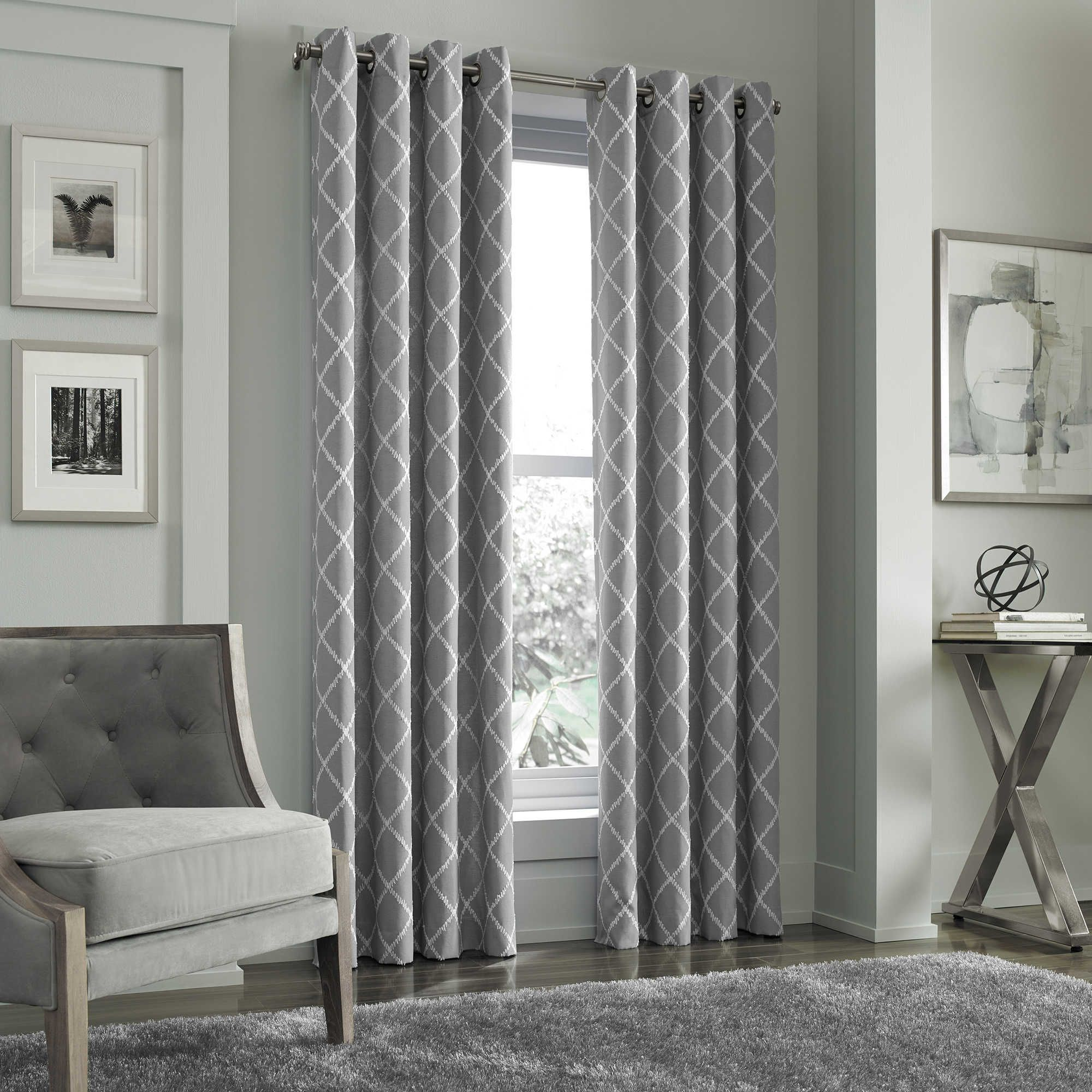 J Queen New York Adorn Grommet Top Embroidered Window Curtain Panel Panel Curtains Striped Room Colorful Curtains