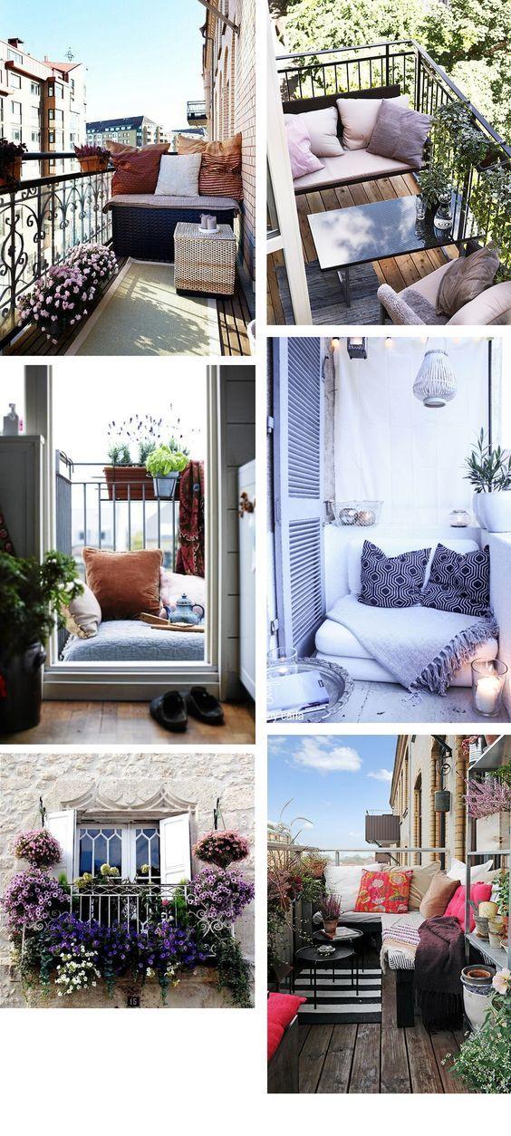 5 tips for small balconies   Ich werde, Balkon und Frühling