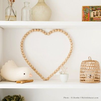 Coeur En Bois | Nursery | Pinterest | Key Chains, Beads And Decoration